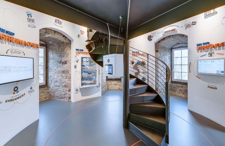 Volksbanken Raiffeisenbanken - Markenturm - Schloß Montabaur - Showroom - Multimedia - Creative Technology - Interactive Experience - Customer Journey - Touchanwendungen - Fotobox -  realtime visions