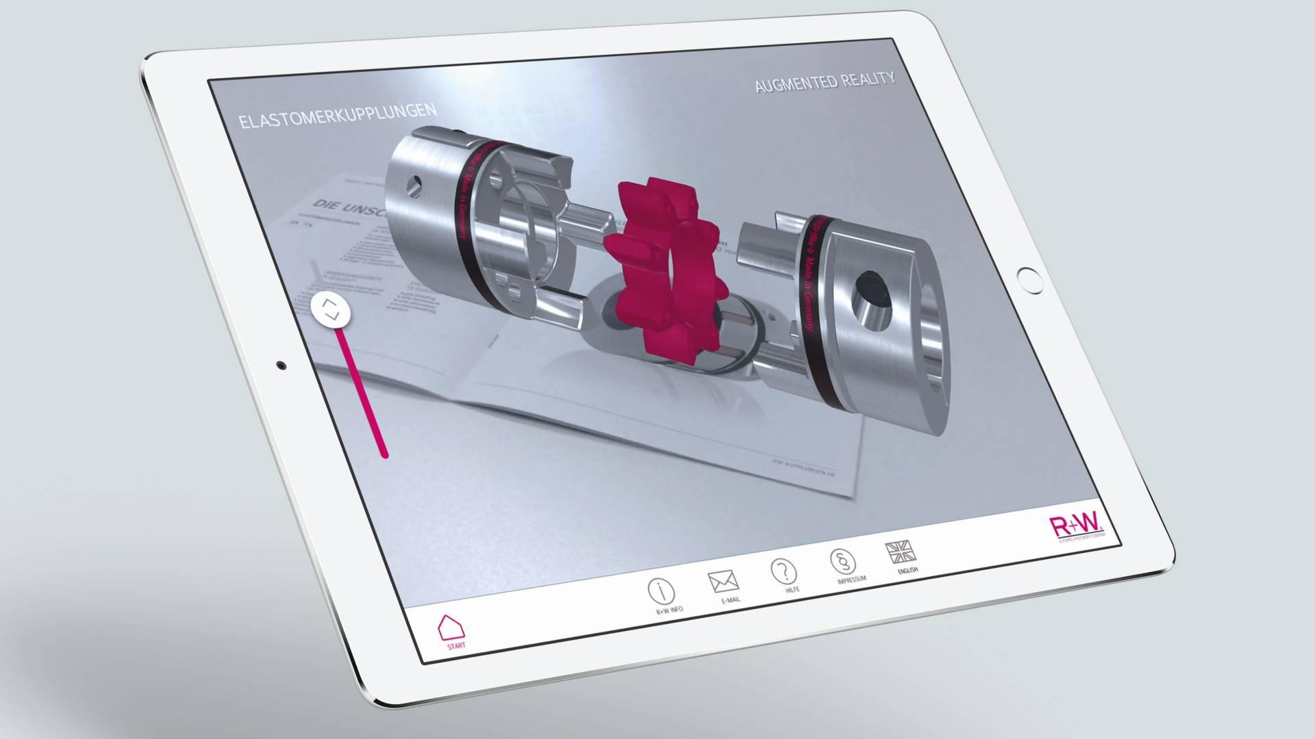 App - Augemted Reality - Industrie App - AR - Interaktiver Katalog - 3D - Unity3D - Interactive Experience - Creative Technology - realtime visions