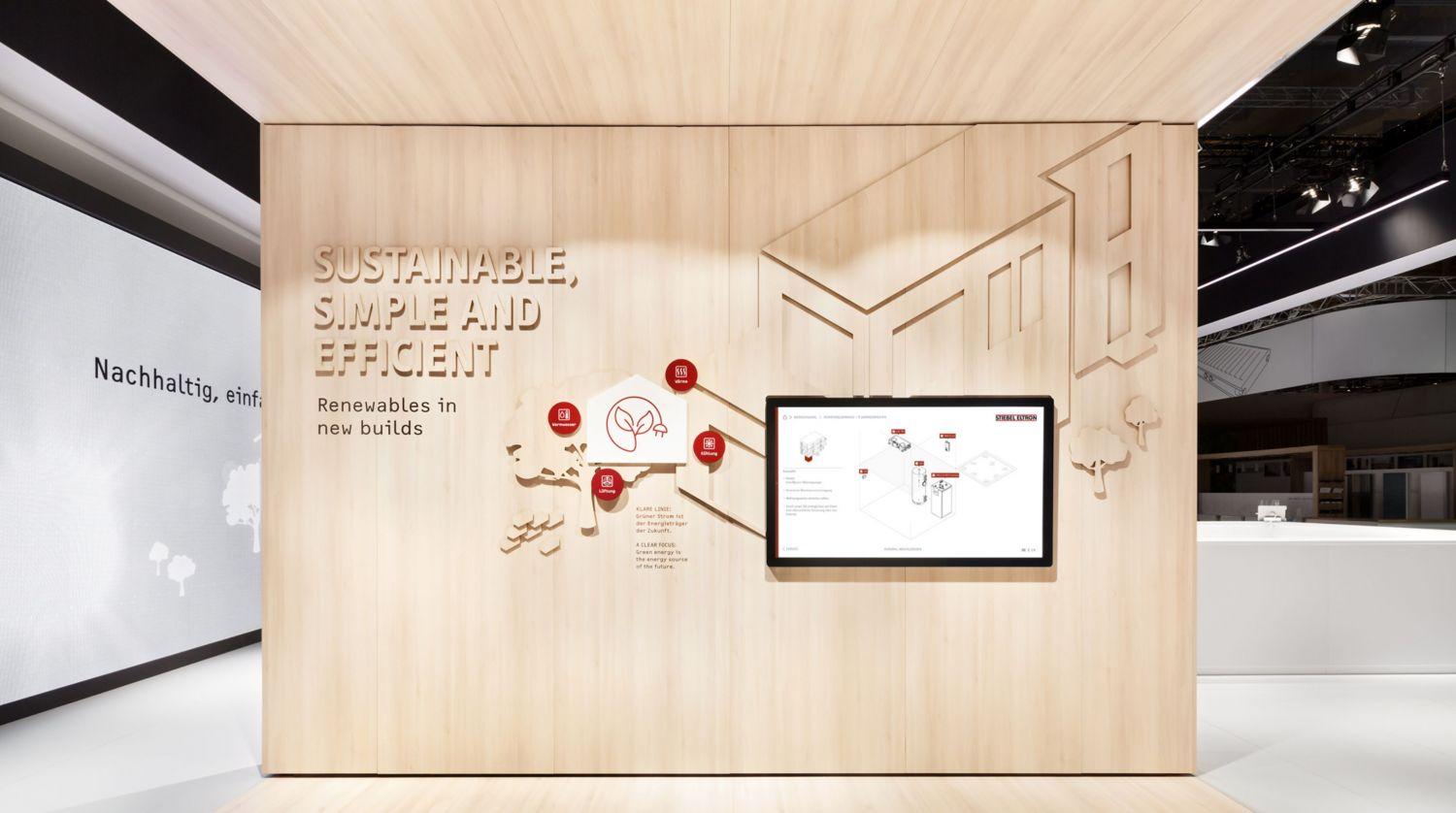 Stiebel Eltron - ISH 2019 - Multitouch - Large Format Display - Multimedia - Produkt Konfigurator - Interactive Experience - realtime visions