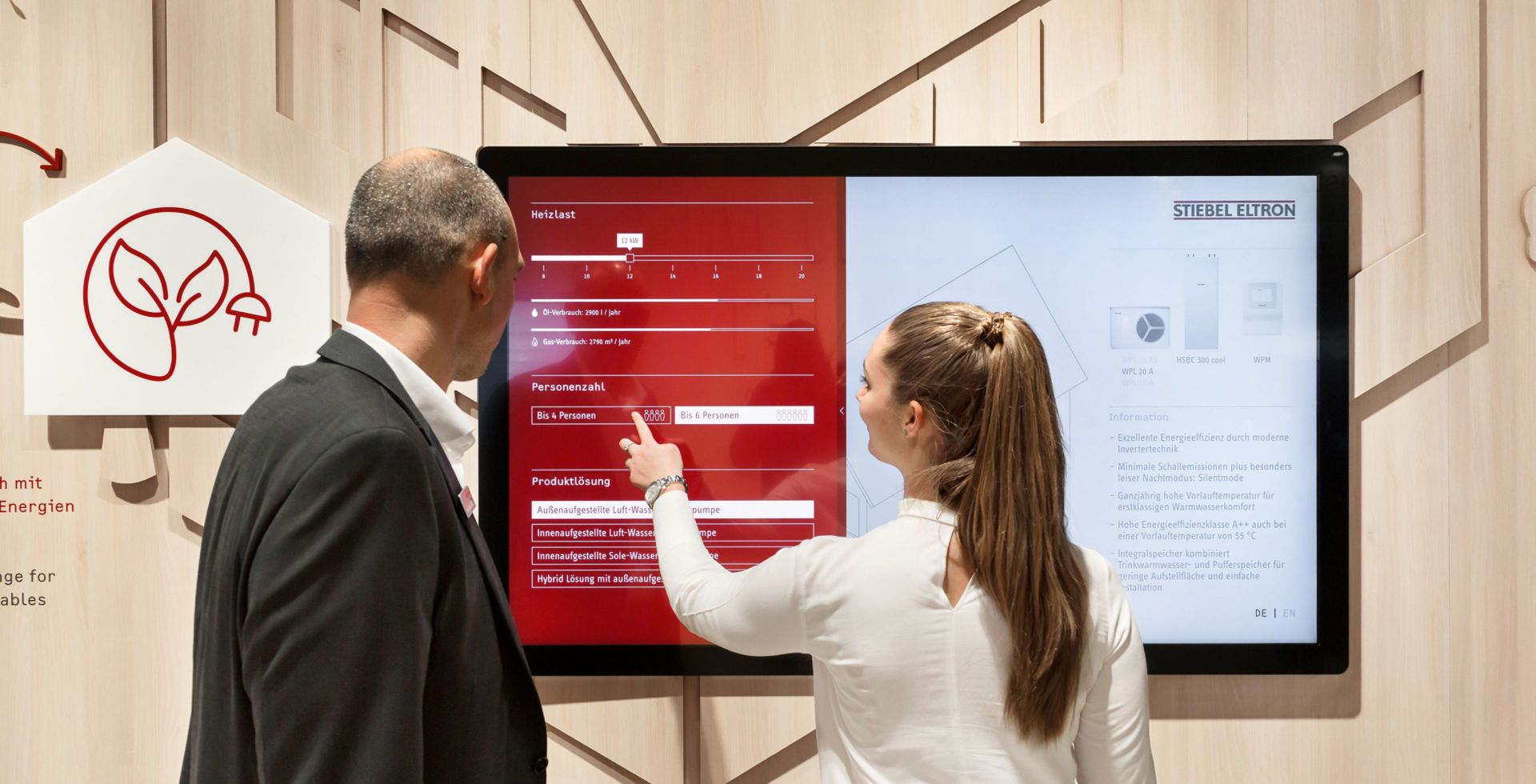 Stiebel Eltron - ISH 2019 - Multitouch - Large Format Display - Produkt Konfigurator - Interactive Experience - realtime visions