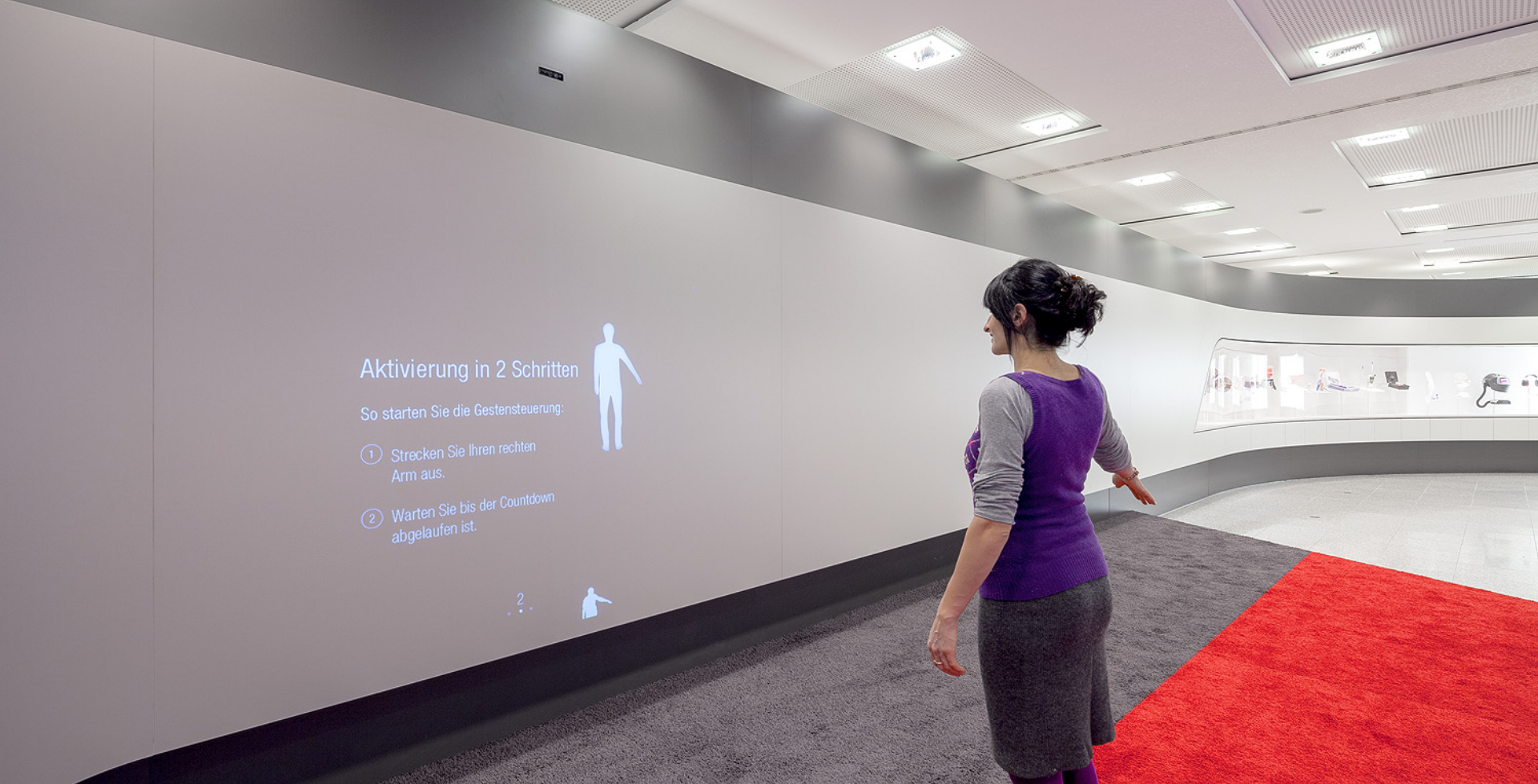 3M Deutschland Kinect Installation - Interactive Projection - realtime visions