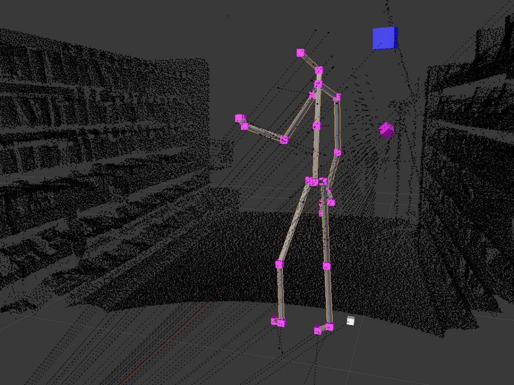 Kinect Data - Sensoren - Multisensorik - Digital Skeleton - Forschung - Biomotion - realtime visions