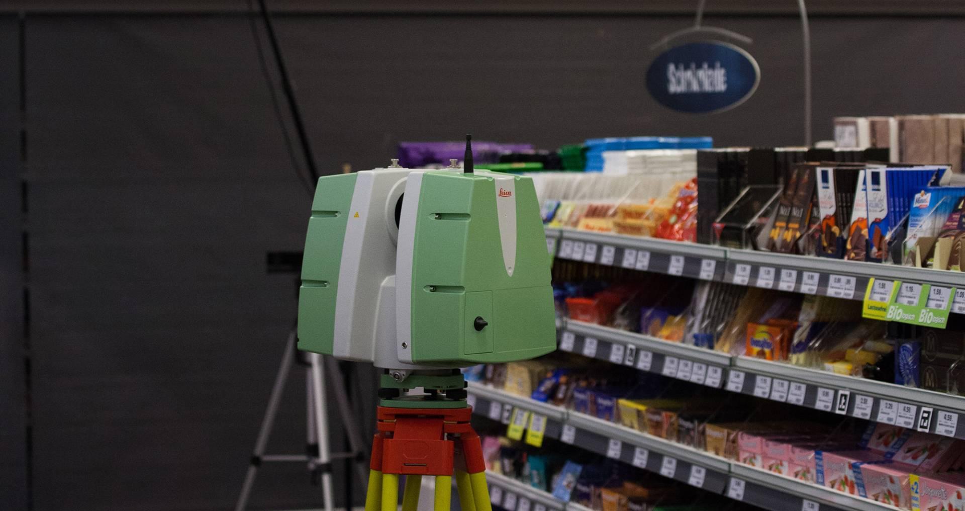 Laserscanner - Leica - Forschung - Multisensorik - Creative Technology - POS - Supermarkt - Gesture Tracking - Emotion Tracking - Biomotion - realtime visions